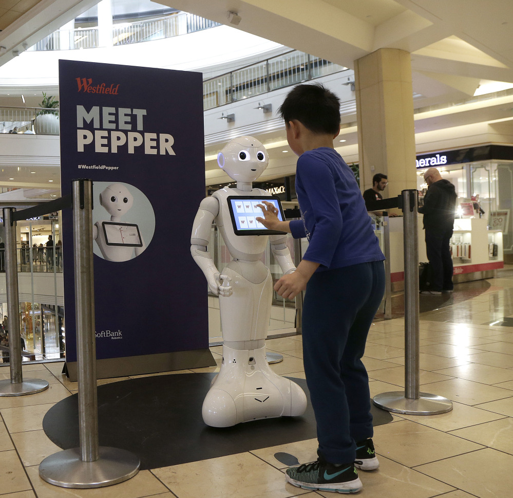 SoftBank Robotics hopes to put its robots in homes and businesses across the U.S. over the next few years to act as a playmate, companion and concierge.