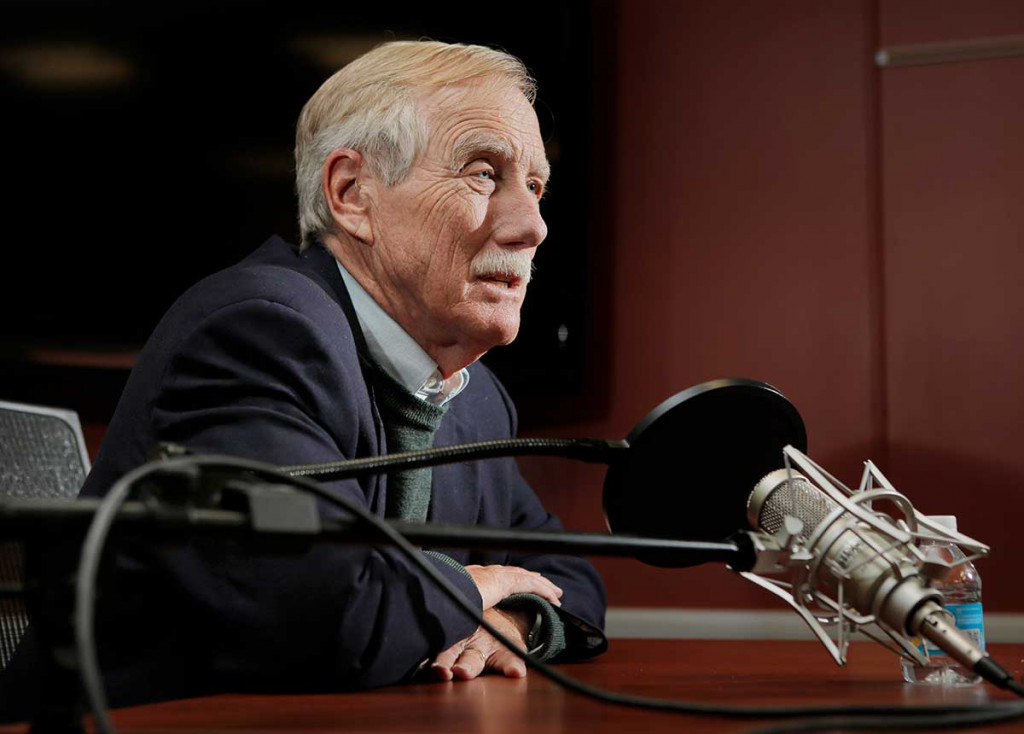 Senator Angus King's conversation with the Editorial Board was recorded for the Press Herald Podcast.