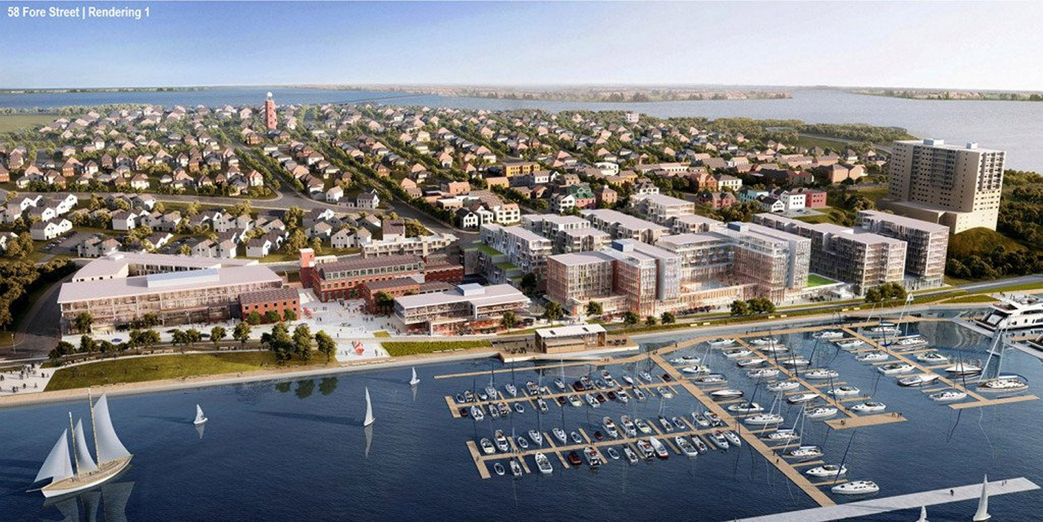 CPB2's development plan calls for 638 units of rental and resident-owned housing, 132 hotel rooms, nearly 60,000 square feet of retail space, a new marina and nearly 124,000 square feet of office space.