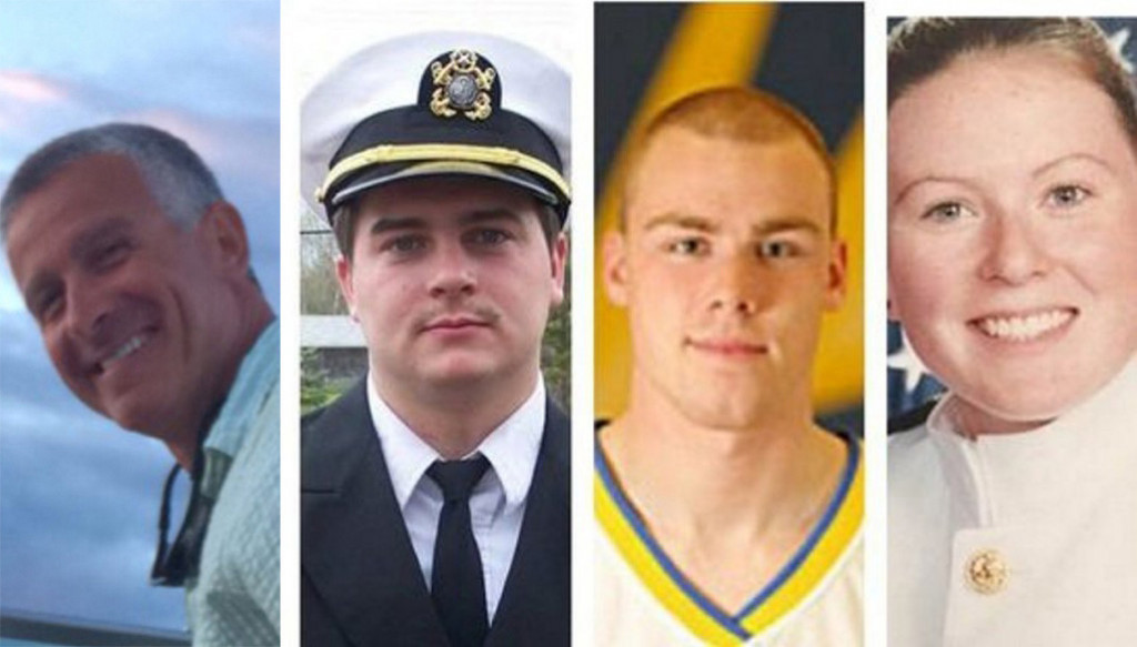 From left, Capt. Michael Davidson, Michael Holland, Danielle Randolph and Dylan Meklin
