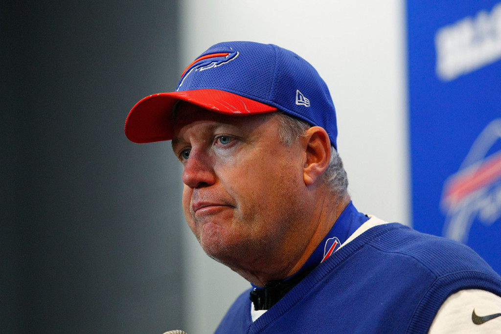 Buffalo Bills head coach Rex Ryan, shown at a news conference on Saturday, has been fired.