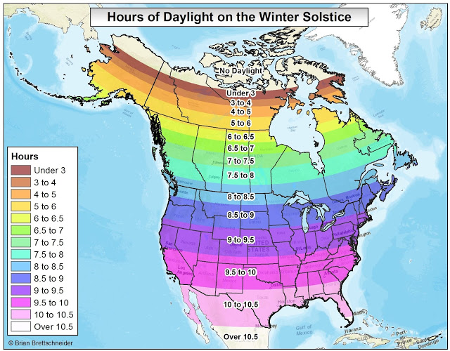 There isn't much daylight this time of year.