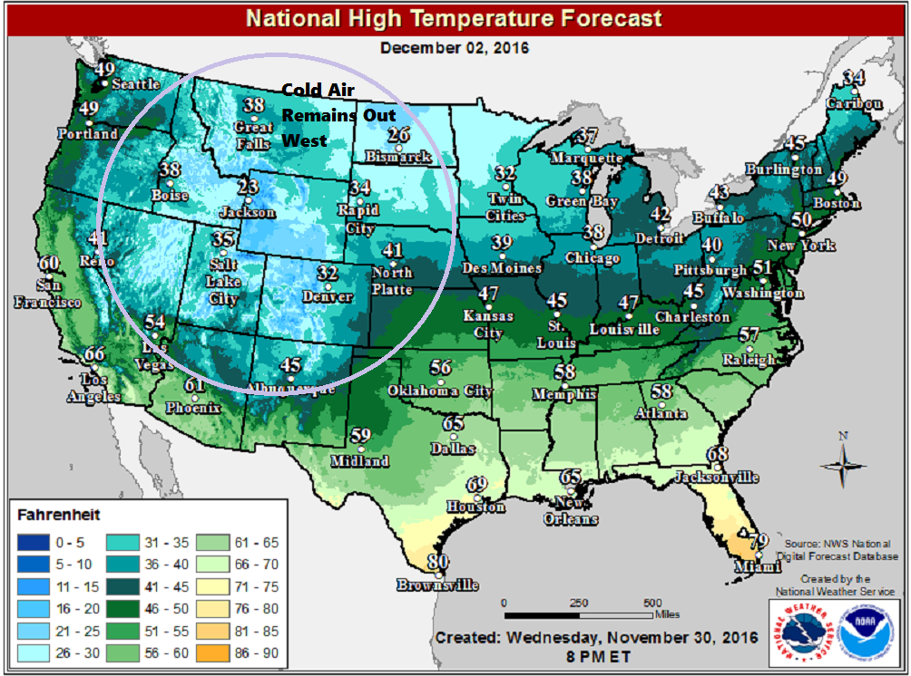Colder air will filter into New England over the coming days, but the core of the cold stays west and north of Maine
