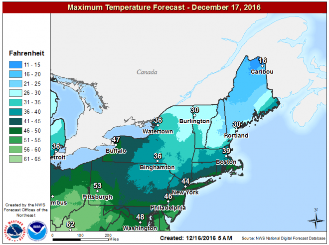 It remains seasonably cold Saturday with snow