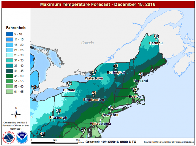 Sunday is mild before colder air arrives overnight