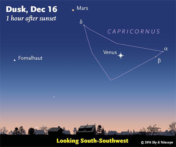 Venus is easily seen in the evening on any clear night right now.