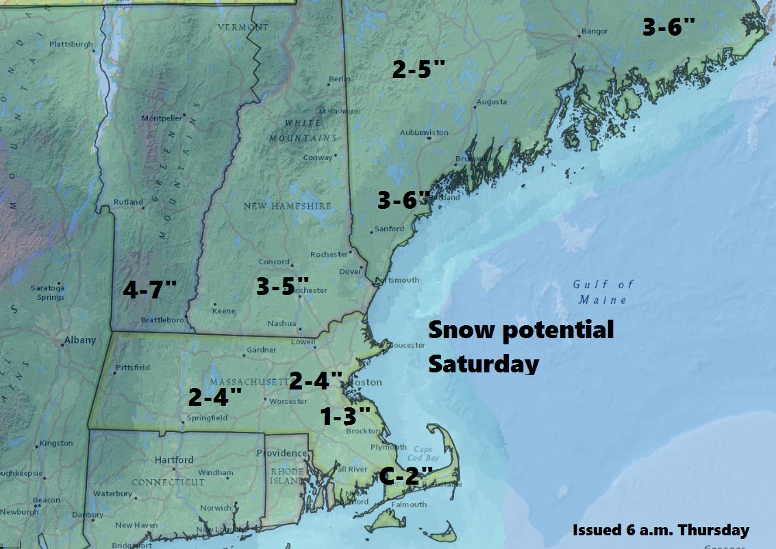 Another plowable snow event is likely Saturday morning and early afternoon.