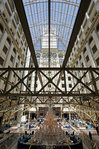 A view of the lobby of the Trump International Hotel. Reuters/Kevin Lamarque