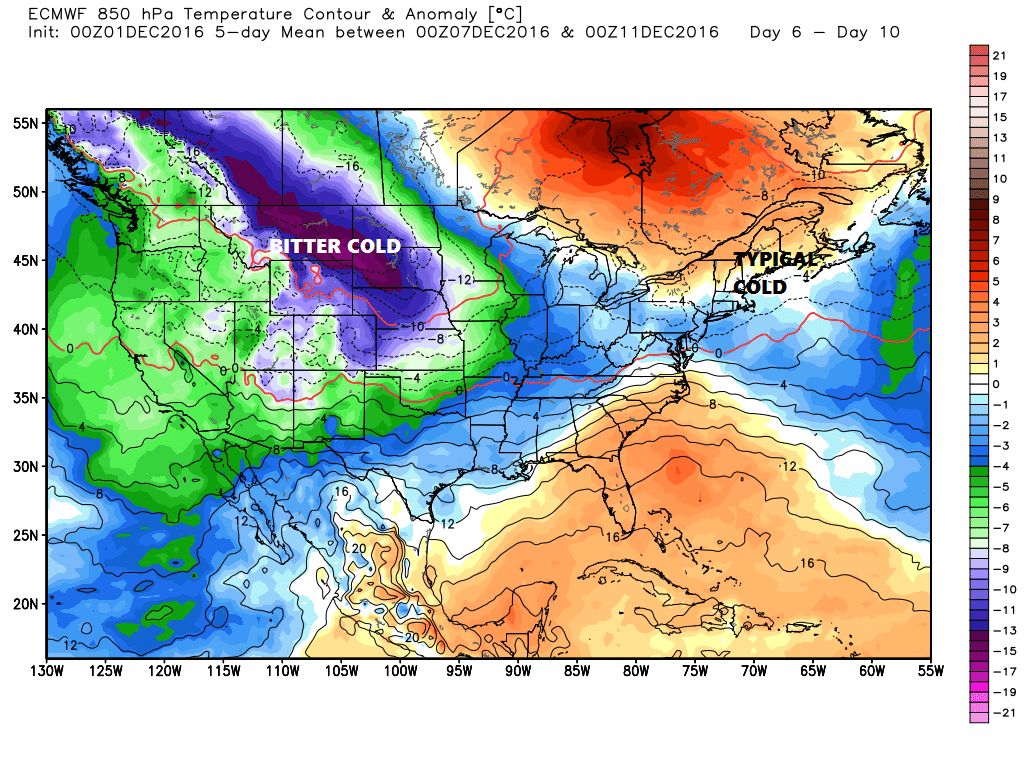 No extreme cold or warmth is forecast to last very long in Maine next week.