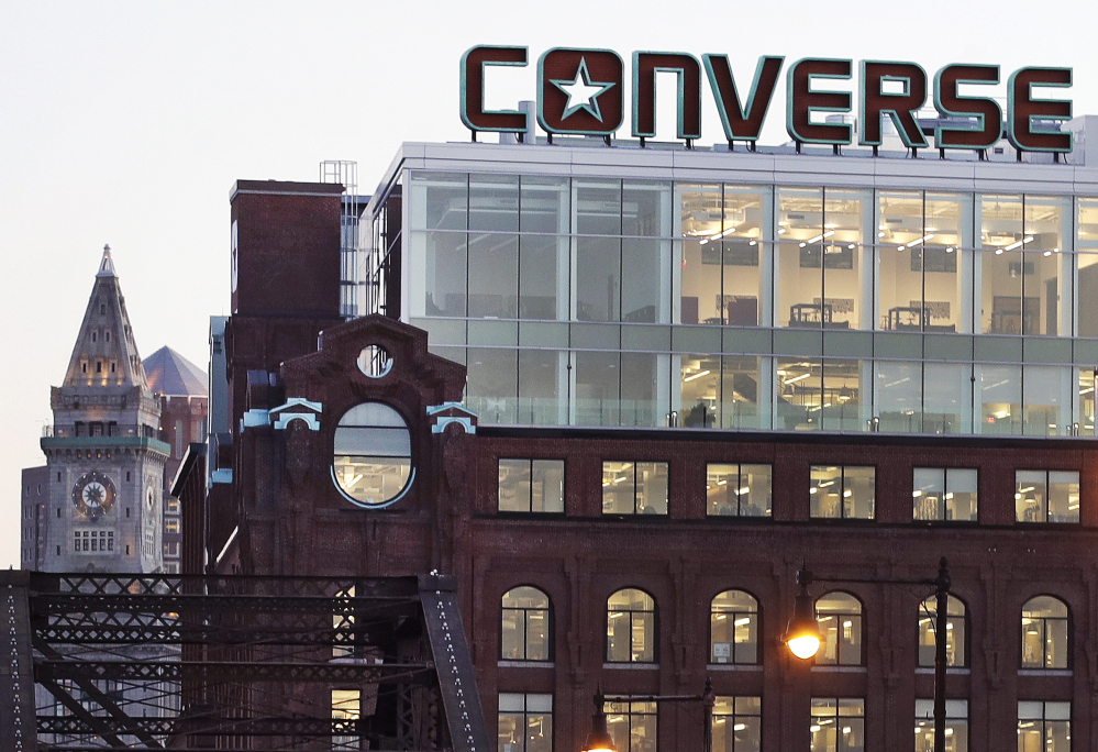 c1b5b7db0f2816 The logo on Converse s world headquarters in Boston greets drivers entering  the city from points north