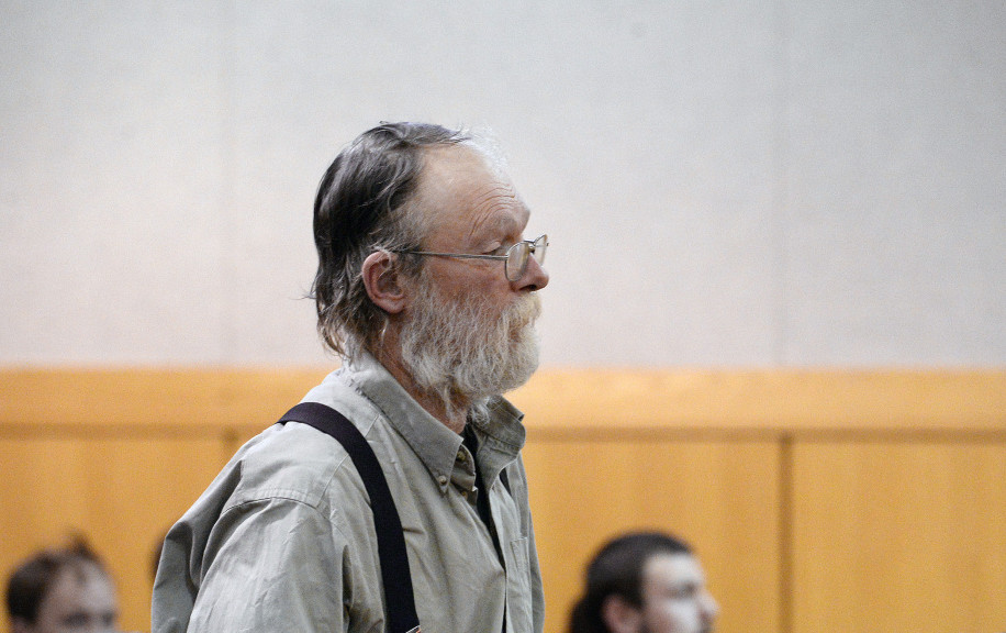 Henry Eichman appears at his arraignment Tuesday at West Bath District Court. The youth theater director was arrested in September on six counts alleging sexual abuse of at least three minors; he was later indicted on 10 more counts involving two new alleged victims.