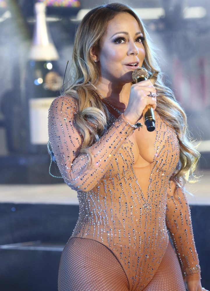 Mariah Carey performs at the New Year's Eve celebration in Times Square in New York.