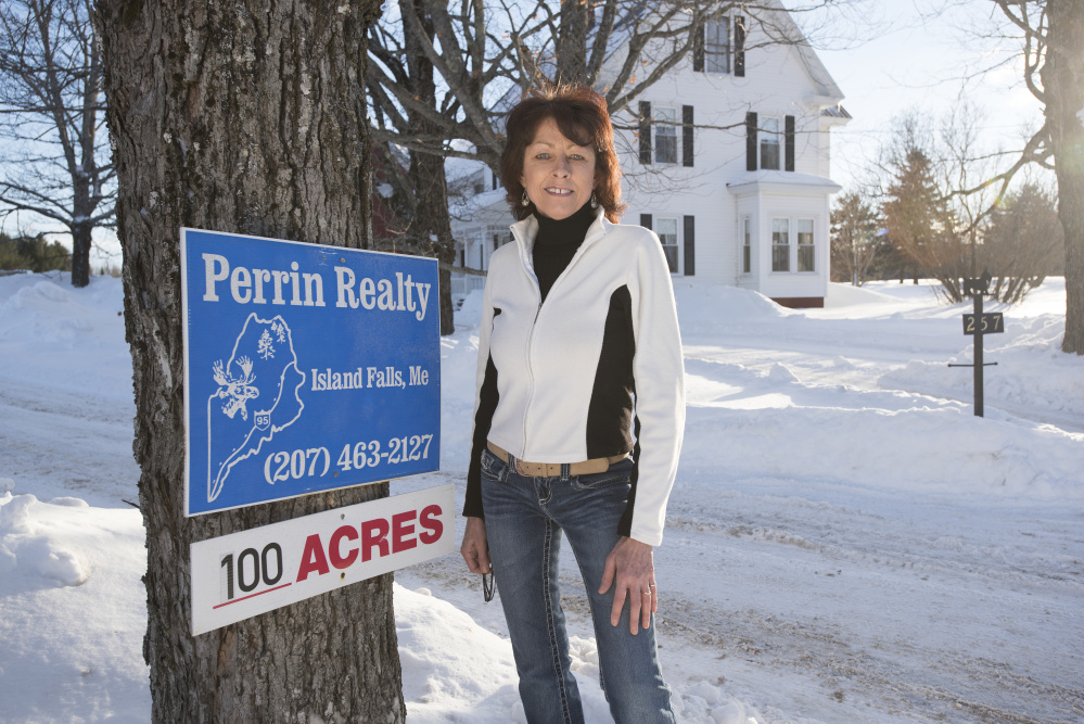 Alison Perrin, owner of Perrin Realty in Island Falls, says she has witnessed a growing buzz over land, vacation properties and homes in the months since President Obama designated Katahdin Woods and Waters National Monument.