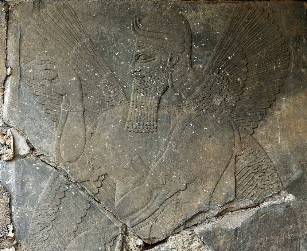 The ancient site of Nimrud, about 19 miles from Mosul, Iraq, featured carved stone slabs at the nearly 3,000-year-old palace. They were destroyed by Islamic State militants.