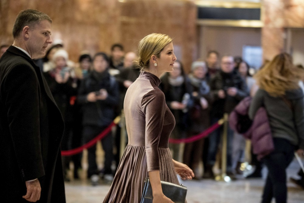Ivanka Trump, daughter of President-elect Donald Trump departs Trump Tower in New York. In addition to serving as an executive at her father's company, Ivanka Trump has developed a lifestyle brand selling shoes, jewelry and other products.