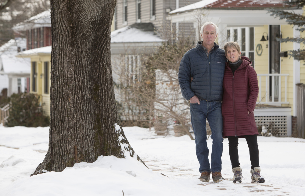 Tom and Ellen Sidar, Bradley Street residents and members of the Friends of Deering Highlands group, say the city isn't doing enough to enforce zoning regulations when it comes to short-term rentals.