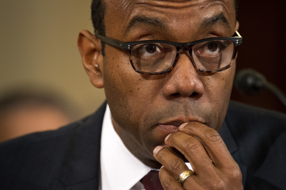 NAACP President Cornell Brooks testifies on Capitol Hill in Washington on Wednesday at the second day of a confirmation hearing for the attorney general-designate, Sen. Jeff Sessions, R-Ala., before the Senate Judiciary Committee.