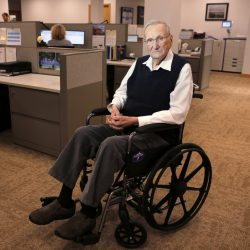 Woodrow Cross, 100, who founded his company in 1954, still goes to the office in Bangor a few times a week. Cross Insurance has over 800 employees working out of 42 locations in five states.