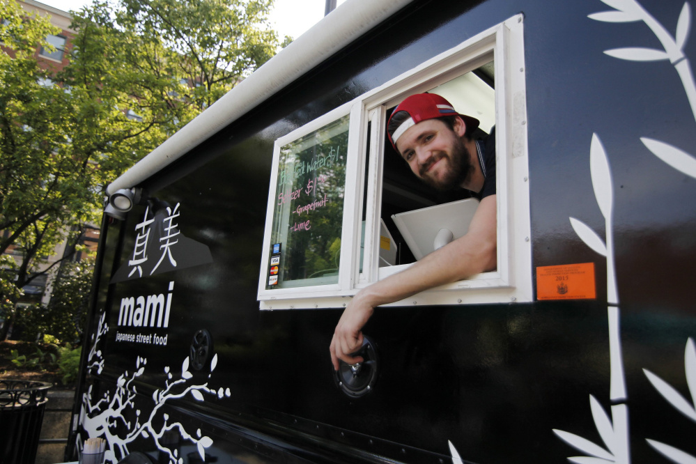 Austin Miller and his Mami food truck. Miller and Hana Tamaki also have a restaurant named Mami on Fore Street in Portland.