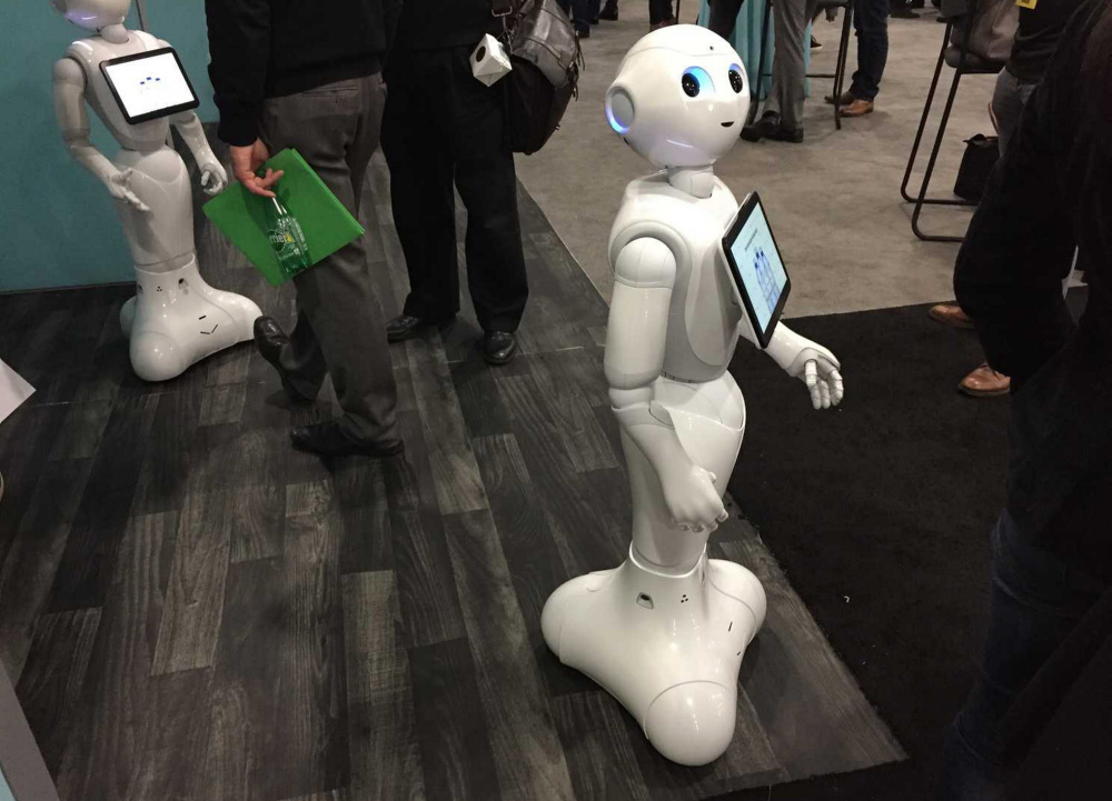 Pepper is a humanoid robot designed to help shoppers made by Softbank Robotics.