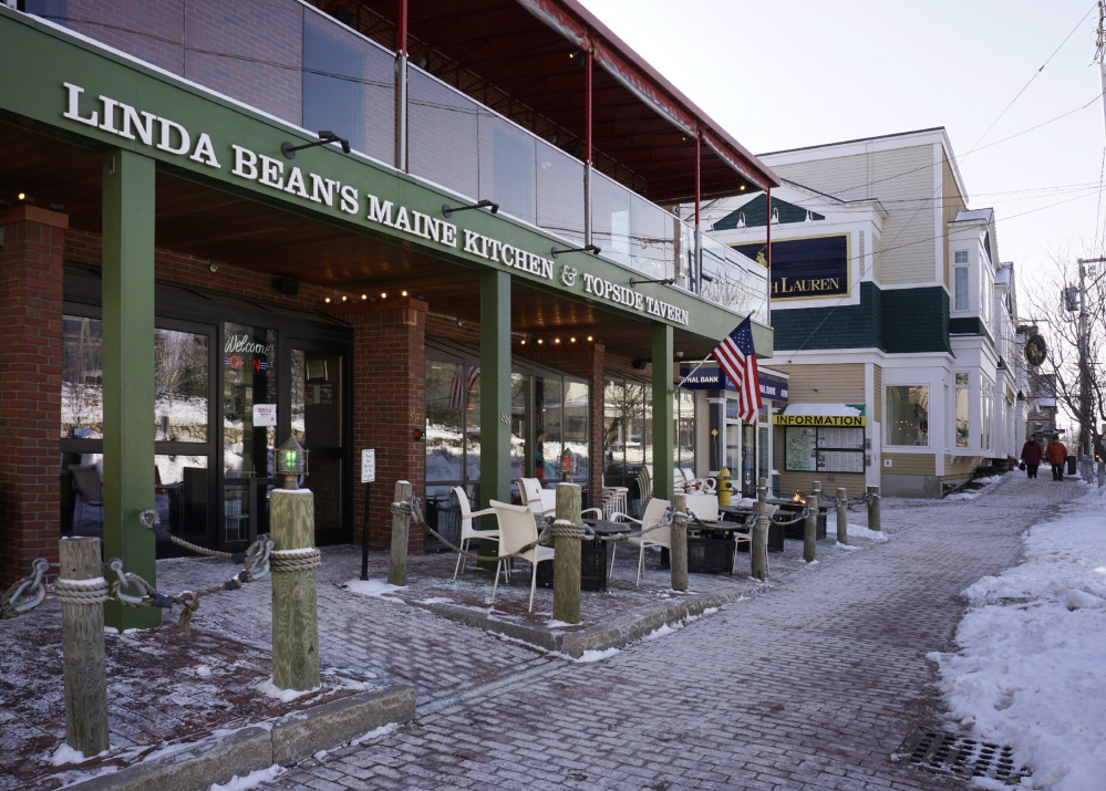 Linda Bean's Maine Kitchen & Topside Tavern is sited across from L.L. Bean's flagship store in Freeport. L.L. Bean Executive Chairman Shawn Gorman has said that a call to boycott because of Linda Bean's support of Donald Trump is misguided.
