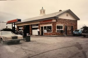 A police photograph of Don's Exxon station in Warwick, R.I., after it was robbed on March 4, 1984. Two years later, a jury found Norman J. Strobel Jr. guilty of conspiring to commit the robbery, among the first of many convictions in a violent past.
