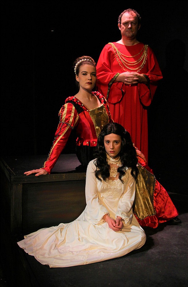Photo by Tom Scannell Clockwise from left: Lady Capulet (Sarah Kennedy), Capulet (Charlie Marenghi) and Juliet (Emma Payton Cooper).