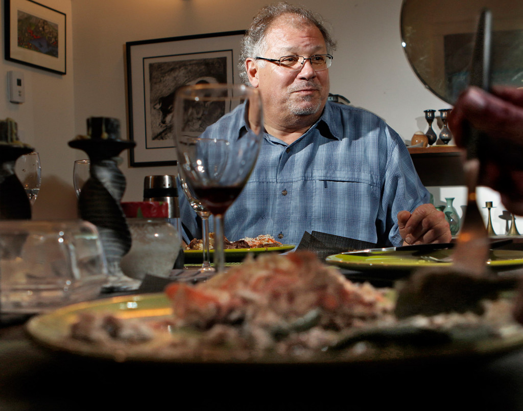 Musician Denny Breu has written a song about pot roast, a dish he loves to cook and serve, complete with gravy and mashed potatoes.