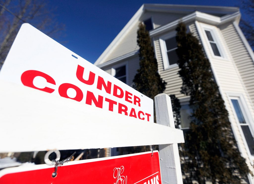 This house on on Kent Street in Portland is under contract. The number of Maine home sales increased nearly 12 percent from 2015 to 2016, according to data released by the Maine Association of Realtors on Tuesday, easily besting the national year-over-year increase of just 0.7 percent.