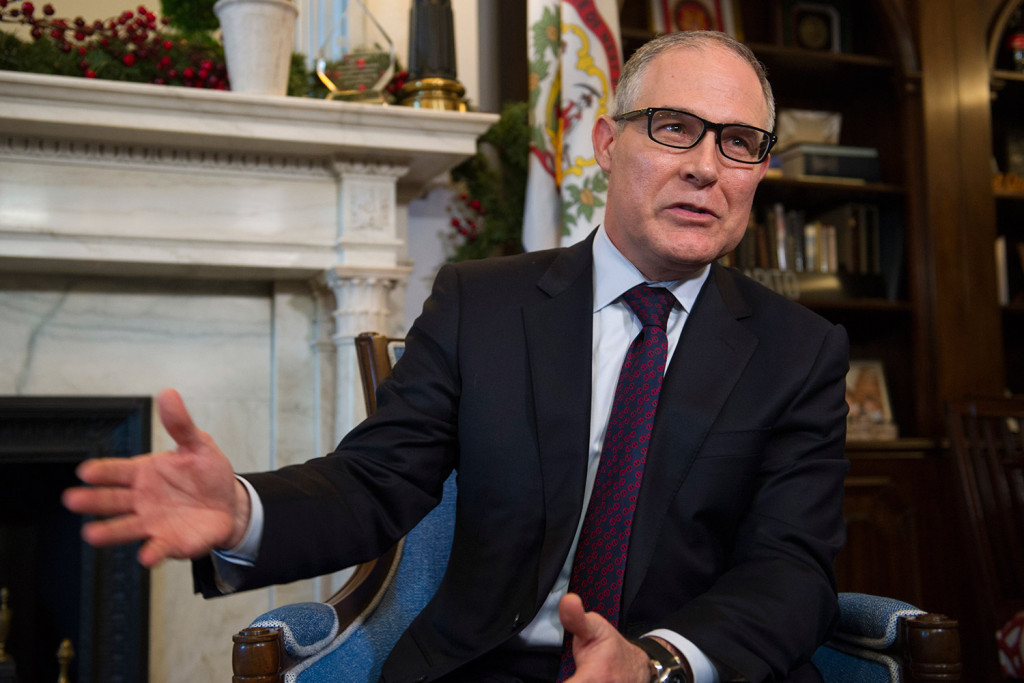 Scott Pruitt, the nominee for Environmental Protection Agency administrator, has been an effective steward of the natural resources of Oklahoma. Associated Press/Cliff Owen