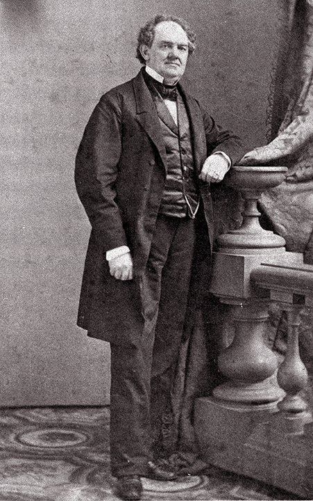 """American showman P.T. Barnum is shown in an 1882 photo at an unknown location. In his lifetime, Barnum was an entrepreneur, museum owner, politician, journalist, impressario and creator of his circus """"The Greatest Show on Earth."""""""