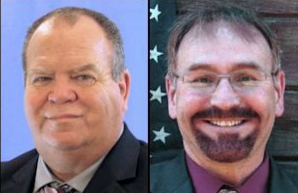Rep. Kevin Battle, R-South Portland, left, has left the Republican caucus and Rep. Stephen Wood, R-Sabattus, says he is seriously thinking about leaving.