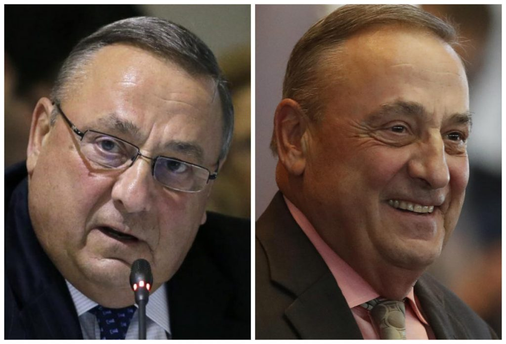 Gov. Paul LePage says he underwent bariatric surgery in September after his doctor warned him he risked developing diabetes if he didn't lose weight. Here he is shown in August, at left, and this month.