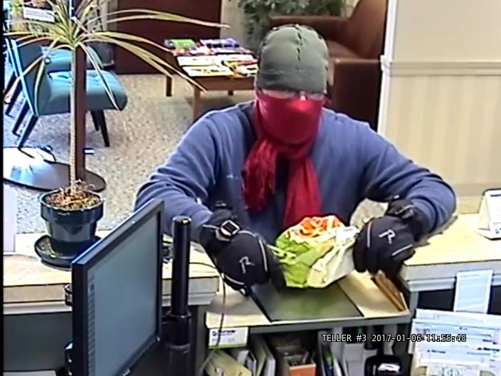 Police are looking for this man who robbed the Norway Savings Bank at 621 Roosevelt Trail in Naples around noon Friday.
