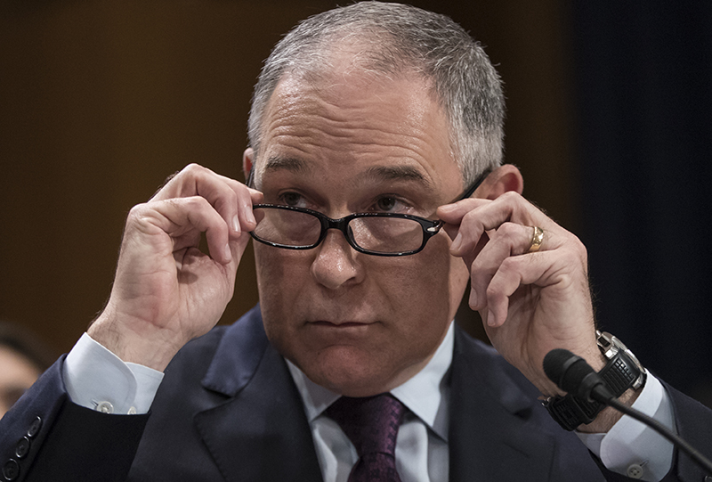 Scott Pruitt braces for tough questions at double hearings on Capitol Hill