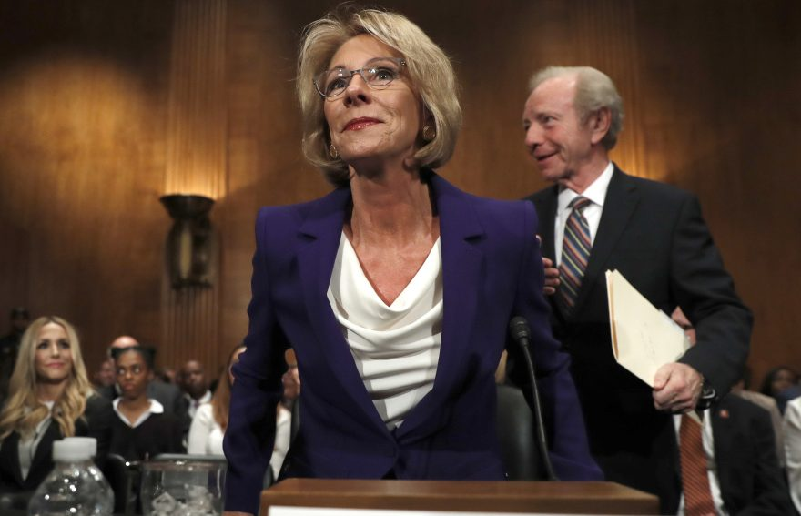 our view no place for betsy devos in nation s public schools