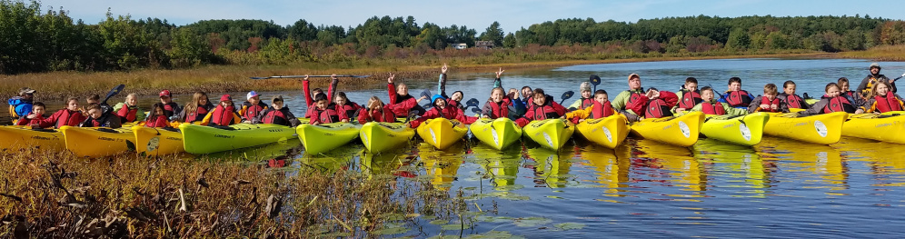 The Maine Outdoor Education Program helps kids learn to kayak, canoe and ski throughout the year.