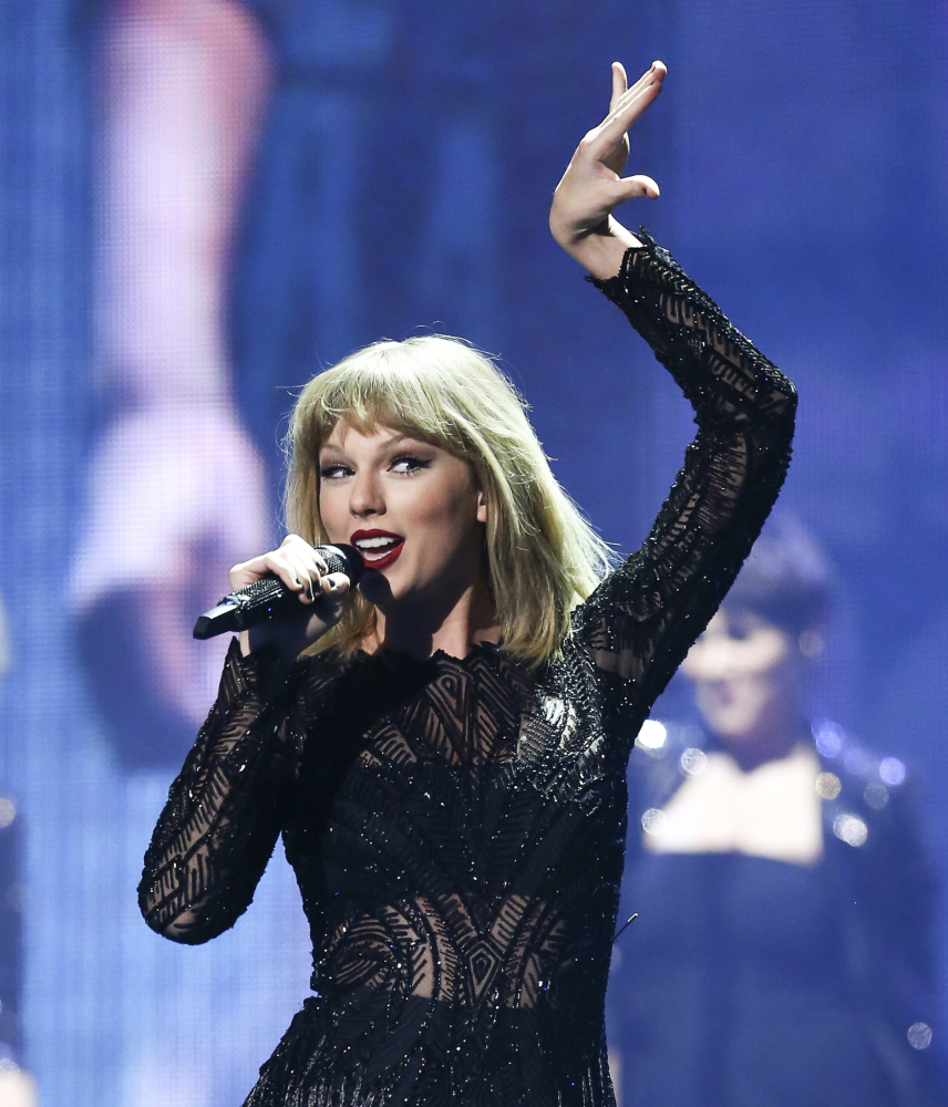 Taylor Swift performs at the DIRECTV NOW Super Saturday Night Concert at Club Nomadic on Saturday in Houston, Texas.
