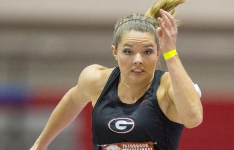 Kate Hall of Casco, a junior at the University of Georgia, is aiming to set more records this year in long jump.