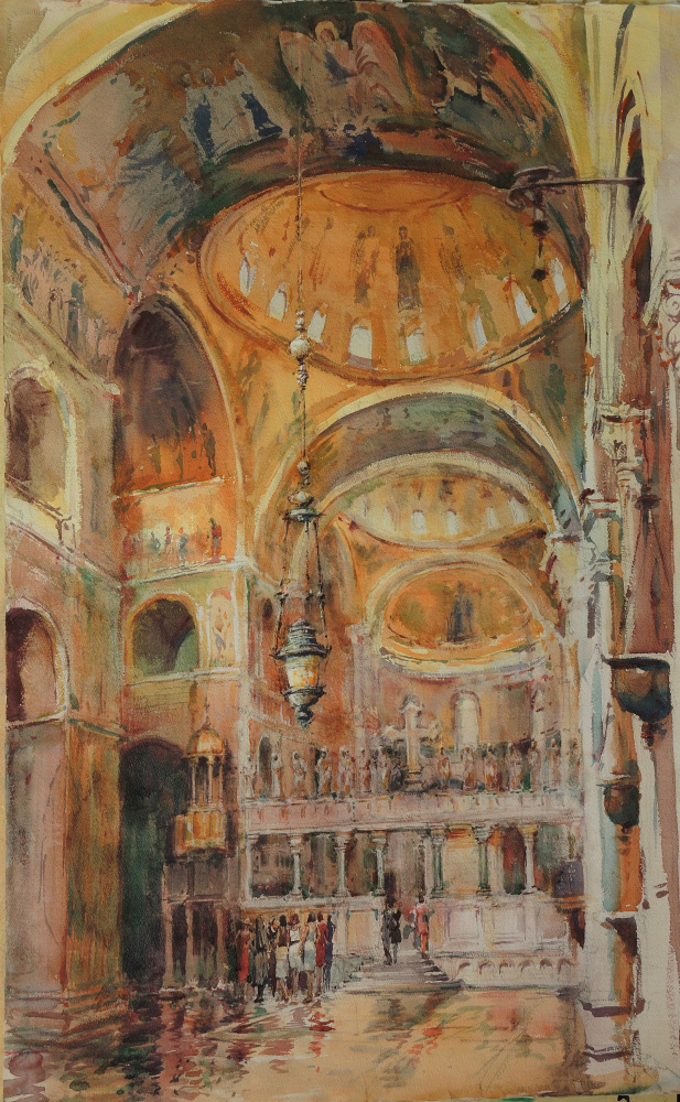 """San Marco"" by Timothy J. Clark Courtesy of the Art Students League"