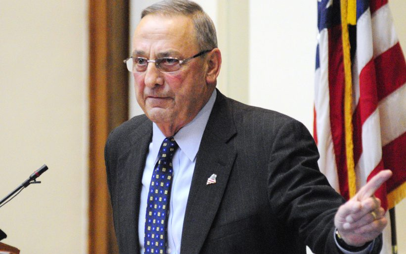 Gov. Paul LePage delivers his State of the State address on Feb. 7.