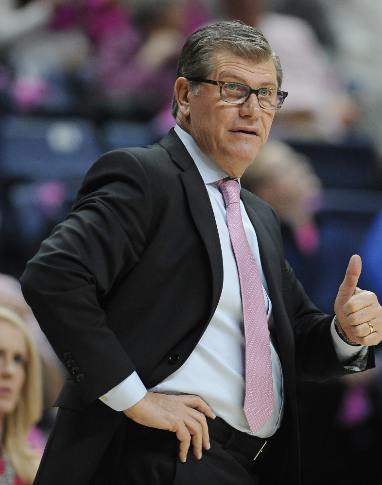 "Coach Geno Auriemma is looking for the type of player who looks at the team's history and is determined not to be the one that ""screws this up."""