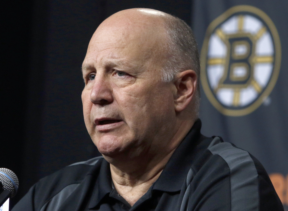 Boston Bruins head coach Claude Julien speaks at a news conference at TD Garden after the Bruins failed to reach the playoffs for the second straight year. The Montreal Canadiens have fired coach Michel Therrien and hired Claude Julien to replace him. Associated Press/Bill Sikes, File