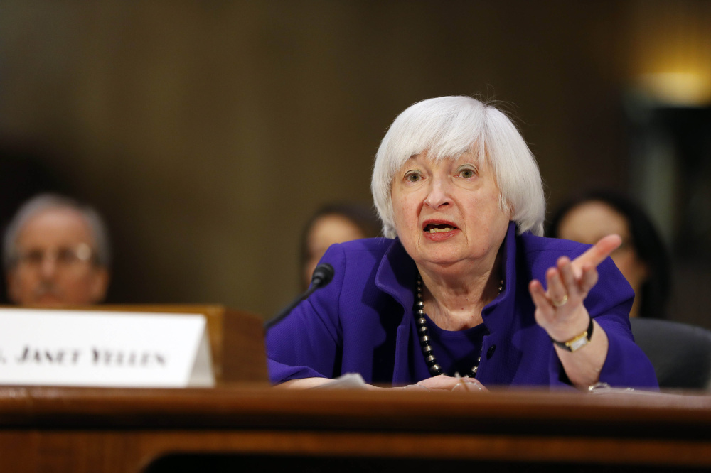 Federal Reserve chair Janet Yellen attends a meeting Tuesday in Washington. She backs President Trump's efforts to make it easier for small banks to lend, in part by freeing them from some Dodd-Frank regulations.