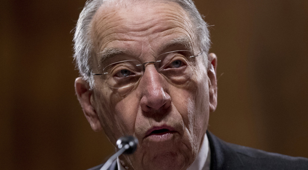 "Sen. Charles Grassley, R-Iowa, said on the Senate floor, ""If a specific individual is likely to be violent due to the nature of their mental illness, then the government should have to prove it."""