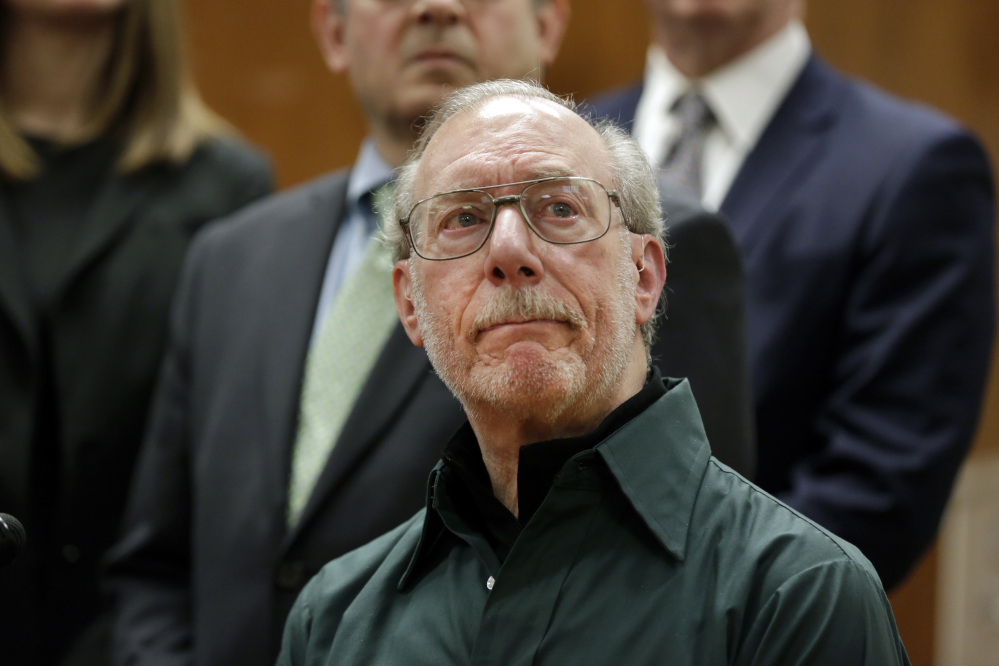 Stanley Patz, father of 6-year-old Etan Patz who disappeared on the way to the school bus stop 38 years ago, reacts during a news conference in Manhattan Supreme Court, after the second trial of Pedro Hernandez, who was convicted Tuesday of murder.