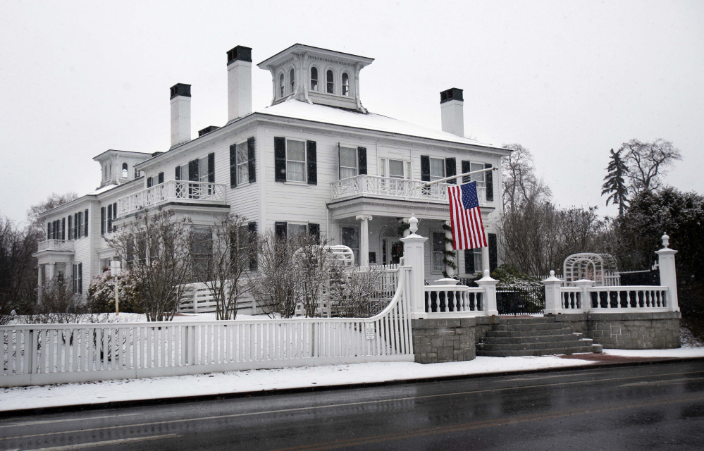 Maine governors pay no rent, utility or food expenses while living at the governor's mansion, known as the Blaine House, which was built in 1832. The first floor of the building is a historic museum, and the living quarters for the governor and his family are on the second floor. The governor is paid $70,000 a year, the lowest salary of any governor in the U.S.