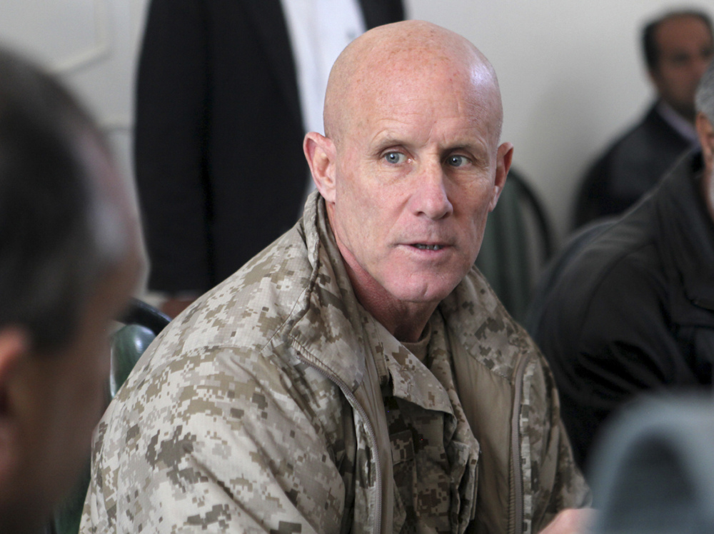 Vice Adm. Robert S. Harward, seen during a visit to Zaranj, Afghanistan, in 2011, has turned down an offer to be President Trump's new national security adviser, sources say.