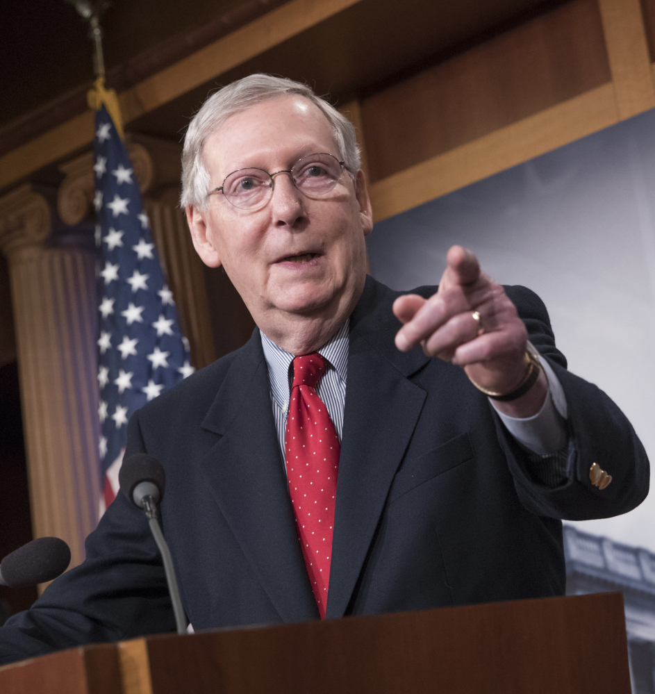 Senate Majority Leader Mitch McConnell expects a
