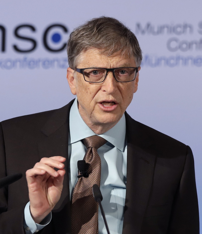 Microsoft founder Bill Gates warns world leaders at a conference in Munich about the threat of a genetically engineered virus.